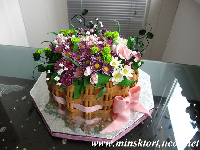 Торт корзинка для пикника