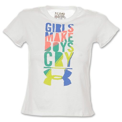 "Under Armour ""Girls Make Boys Cry"" Kids' Tee Shirt 