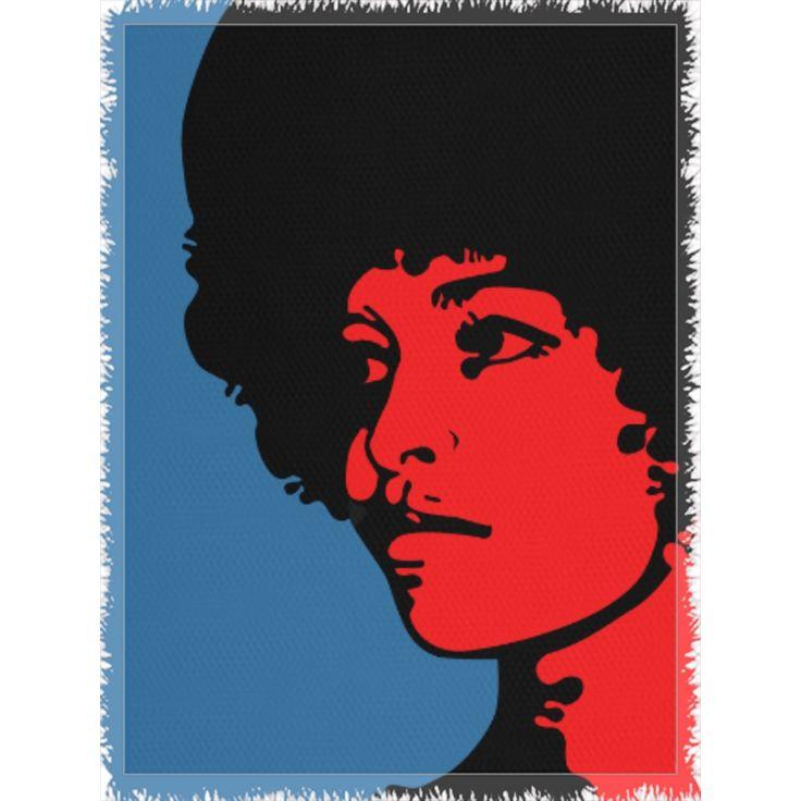 Angela Davis Woven Blanket  #blanket #Chocolate #men #red #buyblack #sales #marcusgarvey #showercurtain #girls #bedding #blackpowerfist #marcusgarveyflag #egypt #blacklivesmatter #king