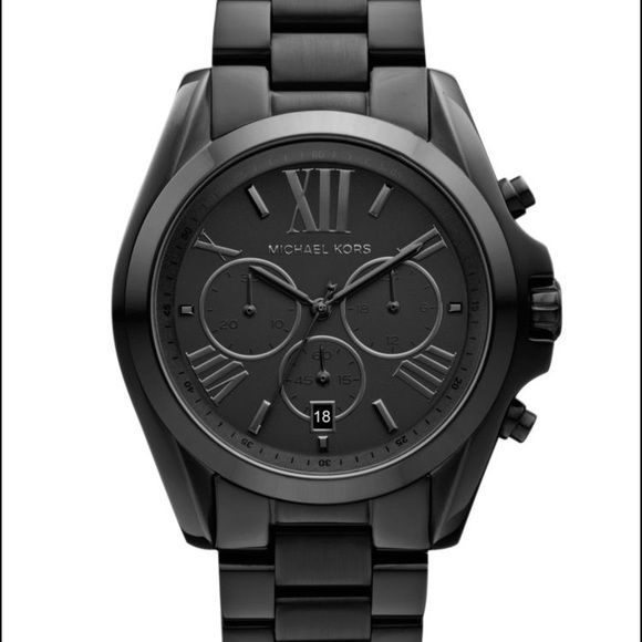 Unisex Black Michael Watch Michael Kors Unisex Chronograph Black Stainless Steel Bracelet Watch MK5550. Used with no signs of wear. Box but not Michael Kors box. Michael Kors Accessories Watches
