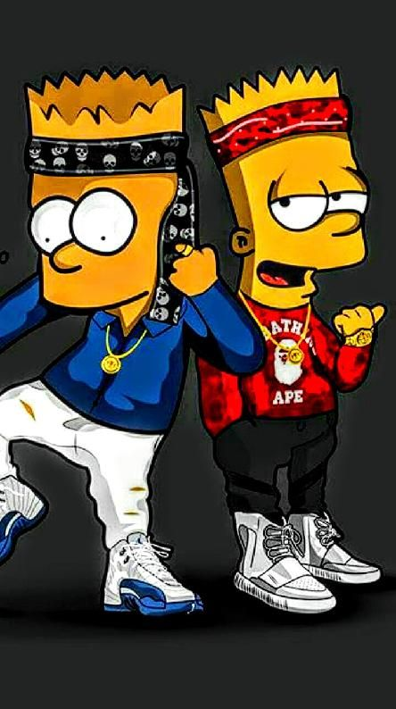 Dope bart dope pics in 2019 simpson wallpaper iphone - Blood gang cartoon ...