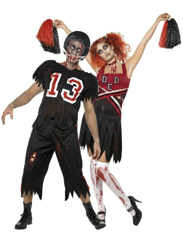 Disfraces de pareja de jugador de fútbol americano y animadora zombies ideales para Halloween: Disfraz de jugador de fútbol americano zombie para adulto. Este disfraz de jugador de fútbol americano zombie para adulto es ideal para Halloween y se compone de una camiseta, un...