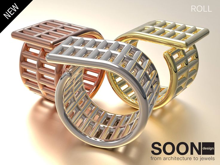 SOON DESIGN JEWELS - NEW ROLL RING - https://www.shapeways.com/product/4R3URJDEM/roll-ring-6-5