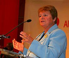 Gro Harlem Brundtland, chair of the 1980's World Commission on Environment and Development, widely known as the Brundtland Commission