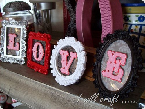 DIY Love Frames