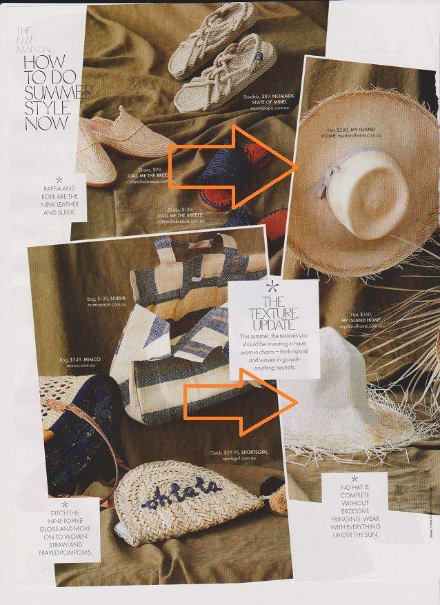 🌞 Summer of Love 🌞 #myislandhome #hats #jewellery #accessories #thankyou @elleaus jan18 @rachelwayman @simonuptonpics