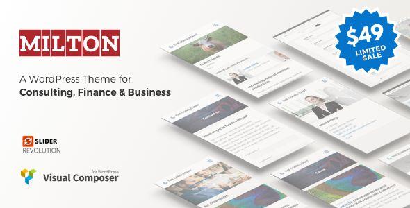 Milton - Consultancy #WordPress Theme - #Business #Corporate Download here:   https://themeforest.net/item/milton-consultancy-wordpress-theme/19924538?ref=alena994