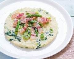 Risotto aux légumes printaniers, pancetta et mascarpone (facile, rapide) - Une recette CuisineAZ