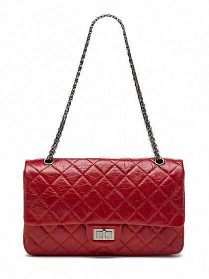 d0ac998bd7c5 Chanel Red Distressed Calfskin Classic 2.55 Jumbo Reissue 227 Double Flap  #Chanelhandbags