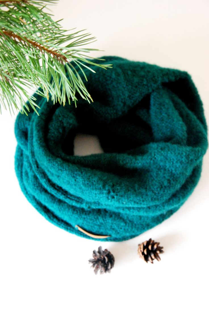 Warm scarf, loop knitted scarf , soft unisex snood, christmas gift, alpaca cowl,forest green alpaca scarf,silk scarf, rdesignstore, rdesign by RDesignStore on Etsy