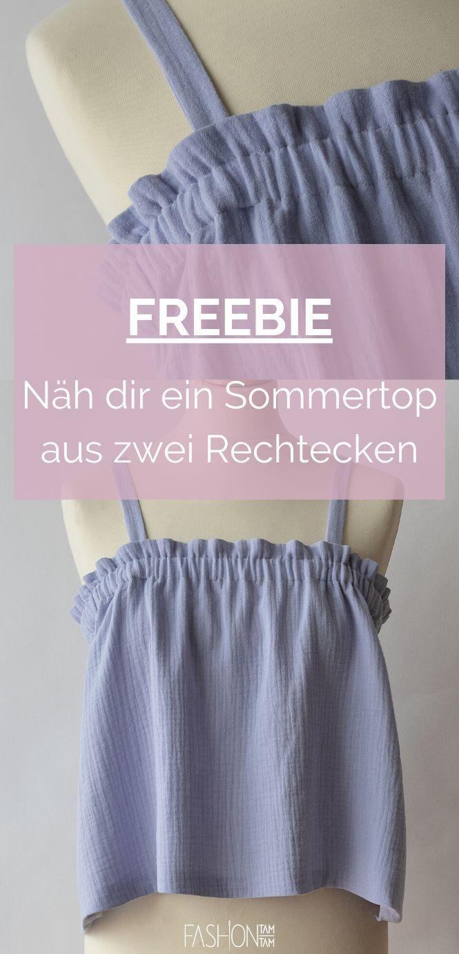 Damen schnittmuster kostenlos sommertop Sommertop für
