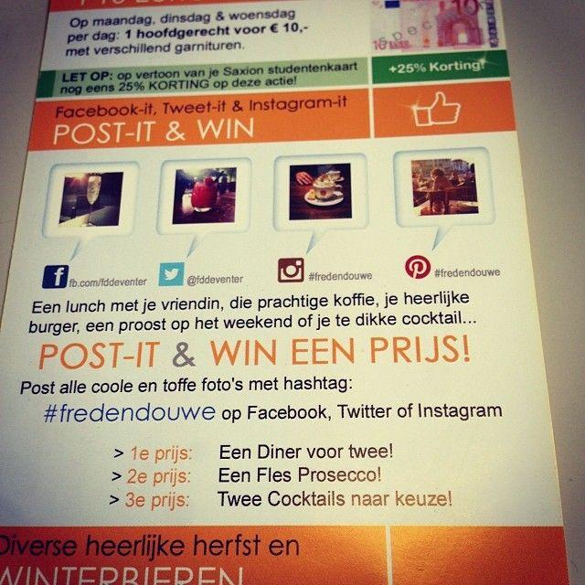 Post it & Win een Prijs #Fredendouwe #Flyer.EGD
