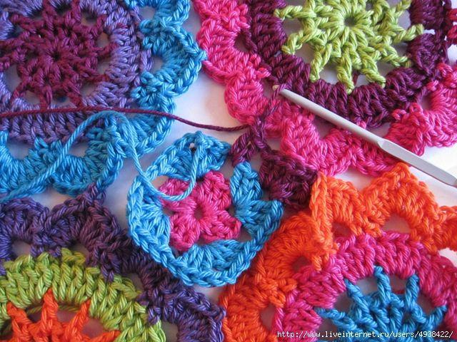 Japanese Flower Crochet Afghan Pattern : 1000+ images about Ha?kovane deky a pol?ta?ky (Crochet ...