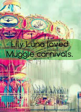Lily Luna loved Muggle Carnivals. Many of the Weasley-Potter kids did but Lily…