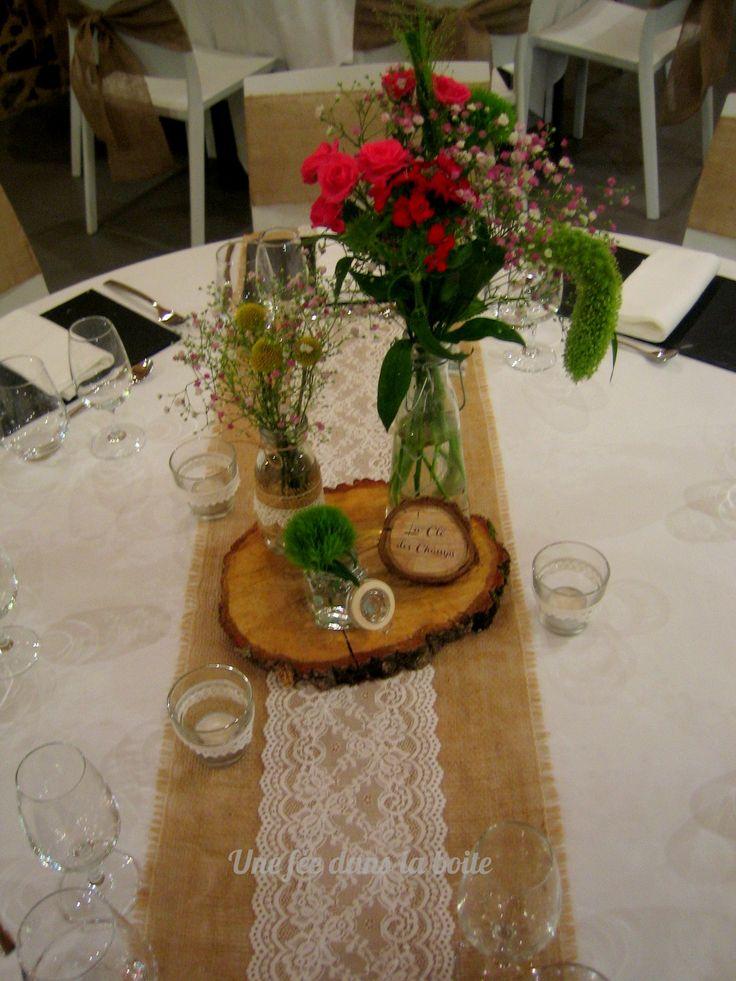 47 best images about les jolis mariage d 39 une f e dans la for Centre de table en bois