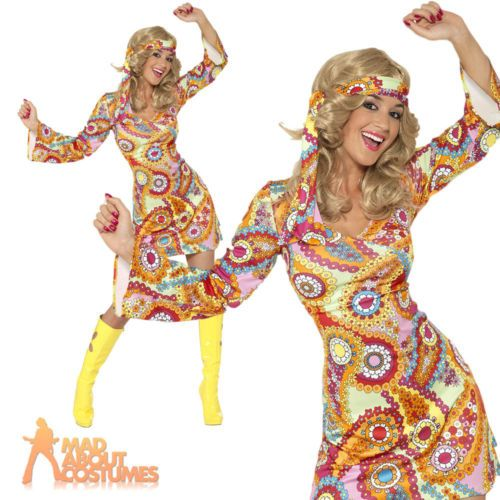 60s 70s #hippy chick lady #costume psychedelic #hippie fancy dress outfit uk 8…