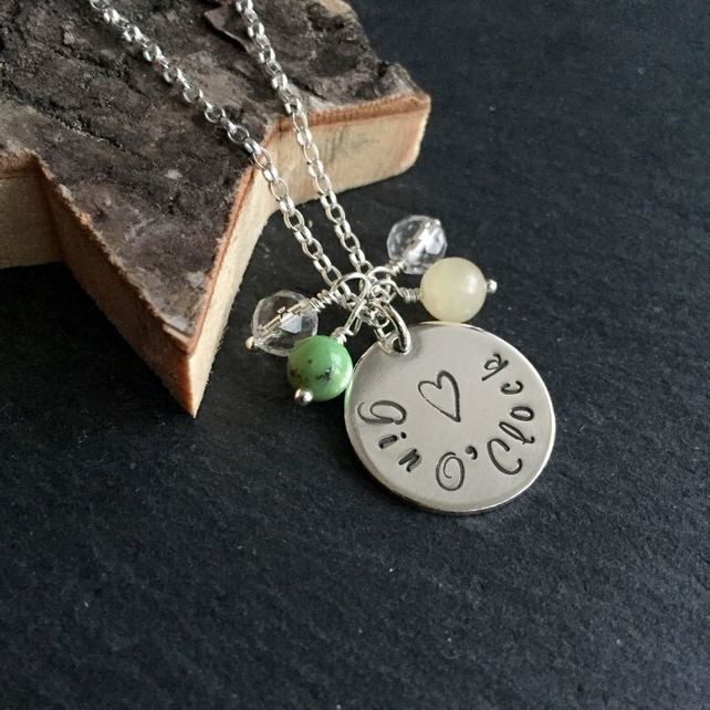 Gin O'Clock Sterling Silver Necklace, Great for Gin Gift for gin fans