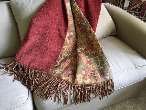 Moroccan Tribal Throw Blanket Aztec African Design  by AlexsAttic