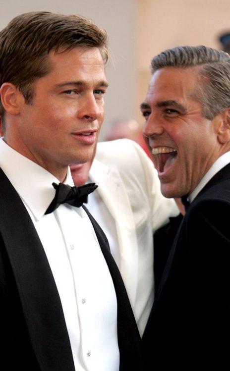 Brad Pitt, George Clooney #celebrity