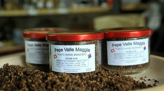 SWITZERLAND Pepe Valle Maggia is a blend of pepper, white wine, grappa from Americanino grapes and spices.