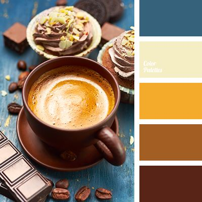 beige, Blue Color Palettes, brown, chocolate, chocolate color, color selection, dark brown, deep blue, house colors, Orange Color Palettes, rich brown, shades of brown, shades of chocolate. (Chocolate Color)