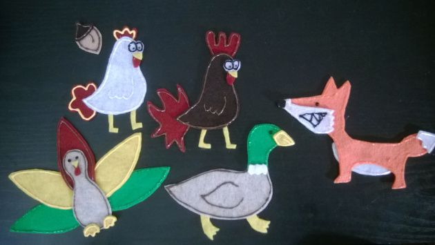 Chicken Licken-Chicken Little-Henny Penny---what's in a name? A flannel board story...