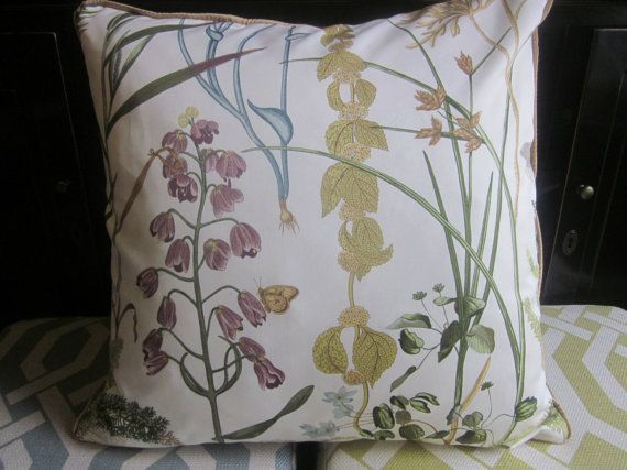 Botanical Spring Garden Cushion 50x50cm by NewhookDesign on Etsy, $84.00
