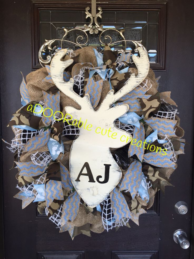 AJ is one lucky boy! This aDOORable cute creations burlap wreath will be ready…