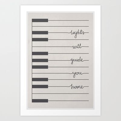 Coldplay Piano Fix You Art Print by Daniel Devoy