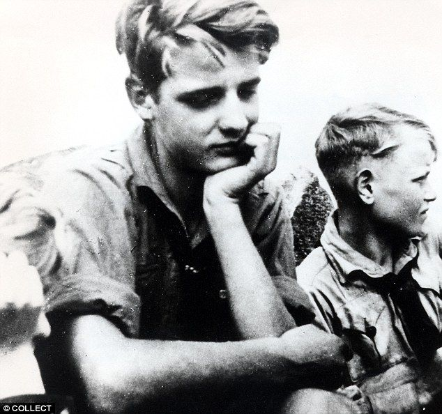 Last act of defiance: Hans (left), pictured with his brother Werner, is believed to have shouted 'Long live freedom' before he was killed