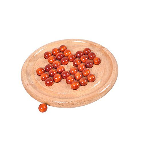 Super Marts Solitaire Games Solid Wooden Board  wood Beads -- Continue to the product at the image link.