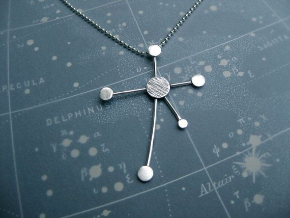 Southern Cross Constellation Necklace Ray Trails by jesikajack, $120.00 -i def need a sugar daddy ;)