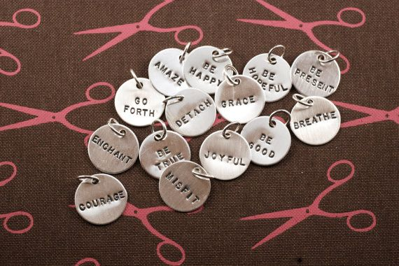 Personalized charm custom charm name charm date by metalsgirl, $10.00