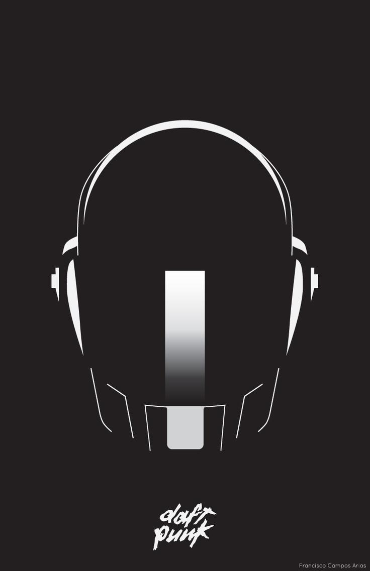 A poster of Daft Punk I created using Adobe Illustrator CS6
