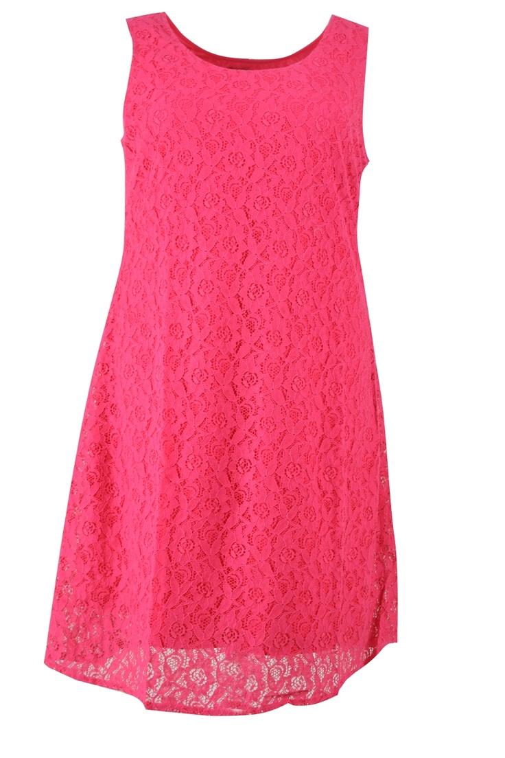 Jurk mouwloos kant gevoerd::jurken::Grote maten mode | Bagoes fashion | grote maten mode online