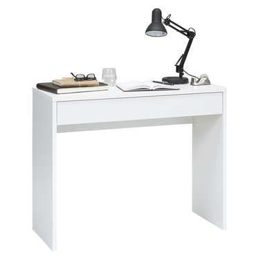 awesome Bureau 1 tiroir CHECKER coloris blanc - Conforama