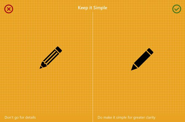 Use simple shapes for greater clearity.