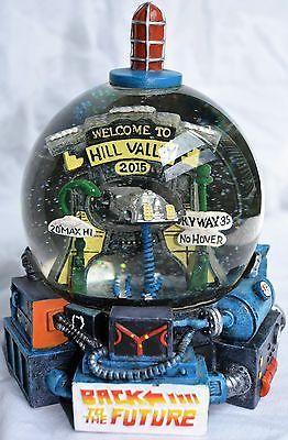 UNIQUE-RARE-Back-To-The-Future-Snow-Globe-Hill-Valley-Clock-Tower-Flux-DeLorean