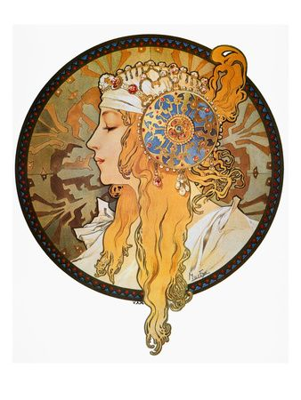 Alphonse Mucha: Mucha Poster. My favorite artist and style of art.