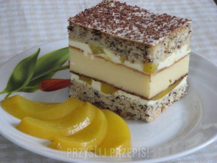 Ciasto czekoladowe z brzoskwiniami