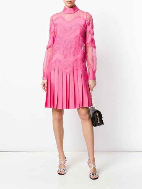 Valentino - Pink lace panel dress