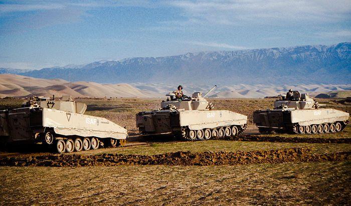 Norwegian CV9030 NO vehicles in Afghanistan