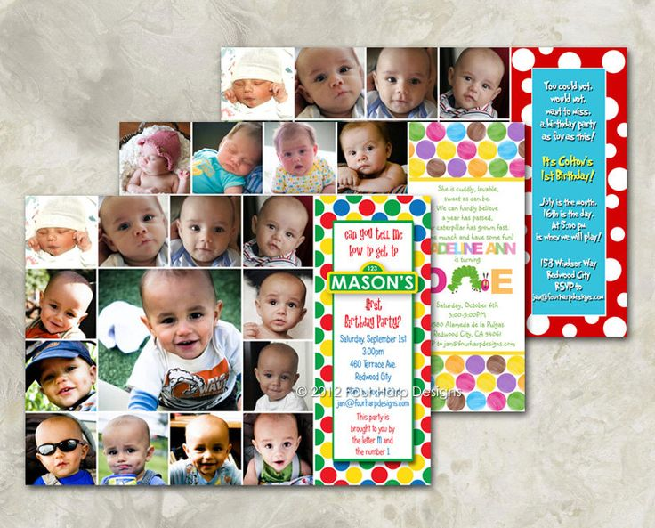First Birthday Invitation - Character Inspired Design - a printable photo card for your baby's first birthday (No. 21016) di FourHarpDesigns su Etsy https://www.etsy.com/it/listing/107820535/first-birthday-invitation-character