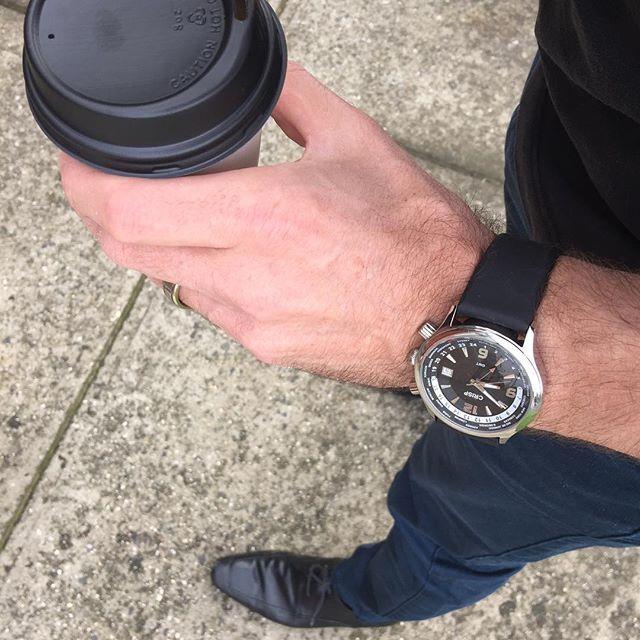 REPOST!!!  #Friday + #coffee + #crisp ✌🏼️ #bosscrisp #quote #luxury #menstyle #selfie  #instagood  #melbourne #sydney #la #miami #nyc #newyork #timepiece #urban #gentleman #shop #photooftheday #photography #gentleman #style #coffee #classic #tailored #hashtag #amazing #chrono #chronograph #jewelry #gold  Photo Credit: Instagram ID @crispwatches