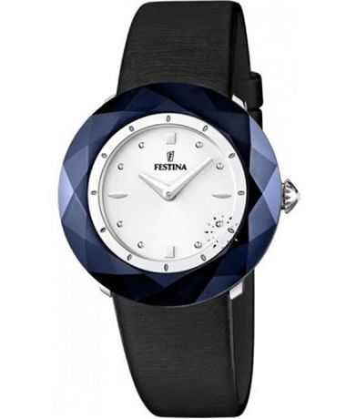 FESTINA Ladies Black Leather Strap Τιμή: 118€ http://www.oroloi.gr/product_info.php?products_id=38791