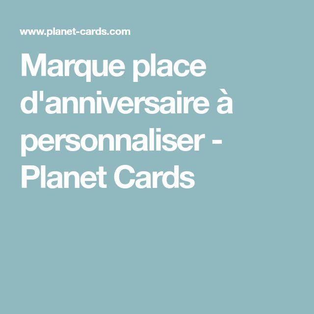Marque place d'anniversaire à personnaliser - Planet Cards