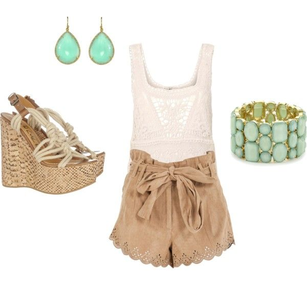 love those shorts!: Summer Fashion, Dreams Closet, Casual Summer, Summer Looks, Summer Style, Cute Outfits, Cute Summer Outfits, Lace Shorts, Summer Clothing