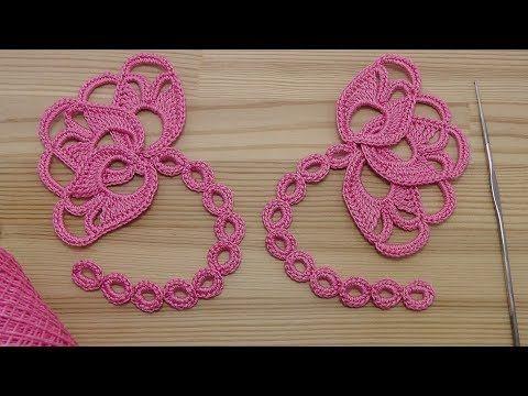 Вязание крючком БУТОН ЦВЕТКА - мотив для ирландского кружева crochet irish lace - YouTube