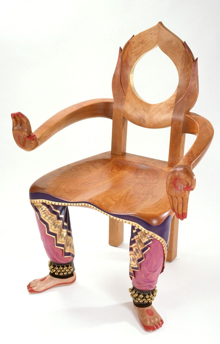 'BHARATANATYAM DANCER' chair | The Flowing Forms of Furniture Artist & Sculptor Sabiha Mujtaba of Chrysalis Woodworks