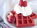 Pretty in pink strawberry waffles
